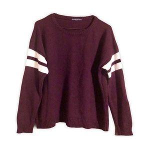 Brandy Melville Italian Wool Crop Varsity Sweater